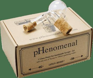 2cl Glasdosierer im Karton von pHenomenal Drinks
