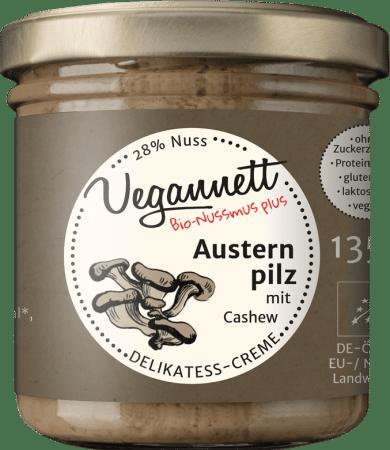 Bio Austernpilz Aufstrich mit Cashew von Vegannett