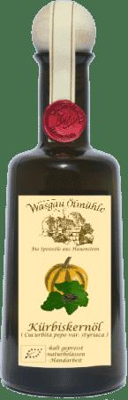 Bio Kürbiskernöl von Wasgau Ölmühle
