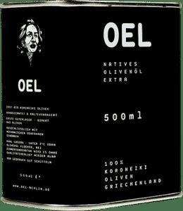 Bio natives Koroneiki-Olivenöl extra 500ml von OEL-Berlin