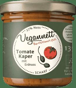 Bio Tomaten Kapern Aufstrich mit Erdnussmus von Vegannett