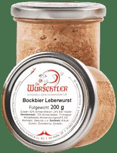 Bockbier Leberwurst