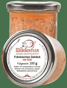 Fränkisches Bratwurstgehäck mit Chili