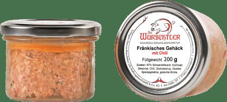 Fränkisches Bratwurstgehäck mit Chili von Die Wurschtler