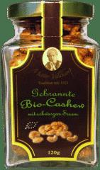 Gebrannte Bio Cashew mit schwarzem Sesam von Hamburger Goldmandeln