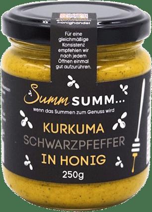 Kurkuma Schwarzpfeffer in Honig von Summ SUMM Honighandel