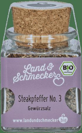 Bio Steakpfeffer No. 3 - Gewürzsalz