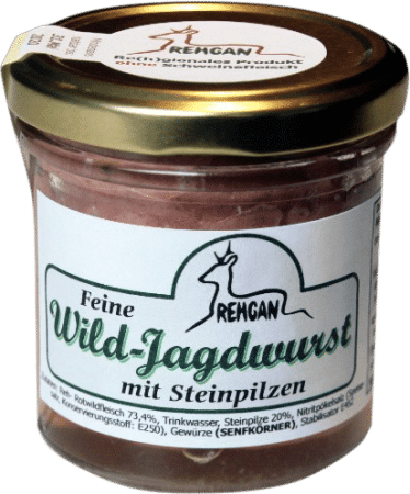 Feine Wild-Jagdwurst mit Steinpilzen von REHGAN