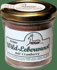Feine Wild-Leberwurst mit Cranberry von REHGAN