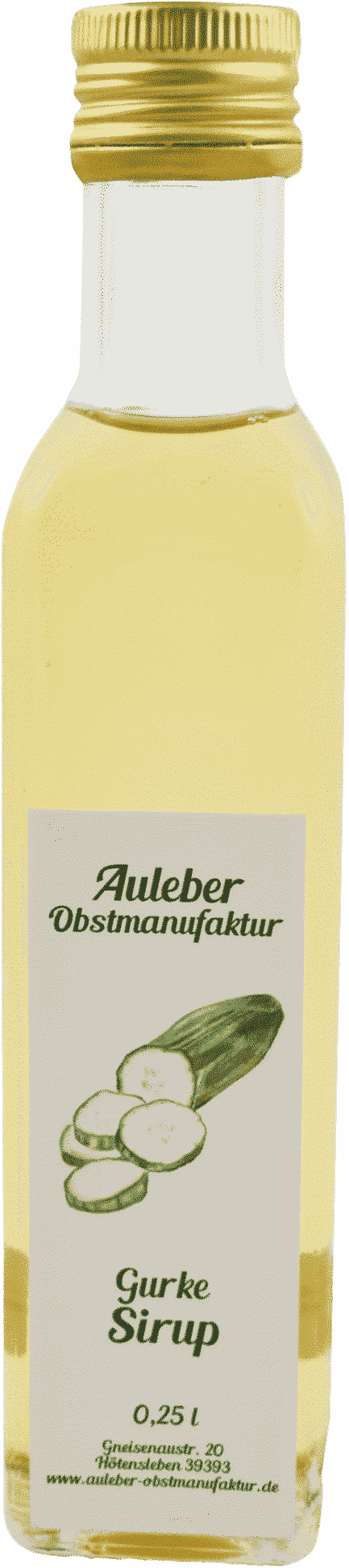 Gurkensirup von Auleber Obstmanufaktur