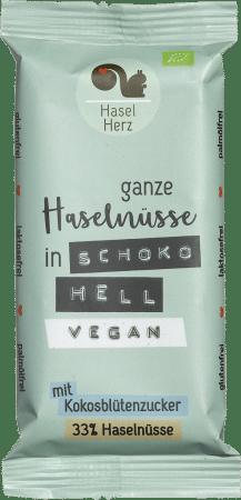 Veganer Bio-Schokoriegel hell (8er-Box) von HaselHerz