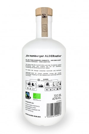 Bio Rum PURE.WHITE.ORGANIC. von ALDER RUM Bio