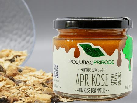 Extra Konfitüre Aprikose mit Stevia 240g von Just Fruits