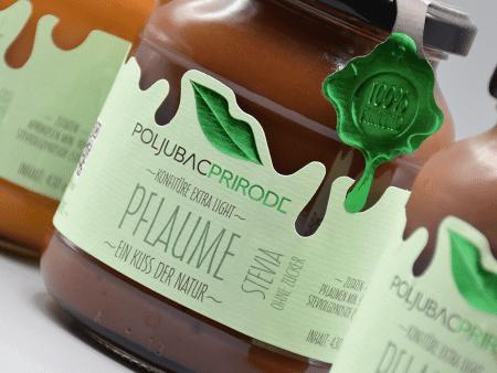 Extra Konfitüre Pflaume mit Stevia 430g von Just Fruits