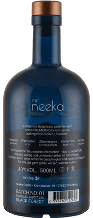 neekaPURE Premium Dry Gin