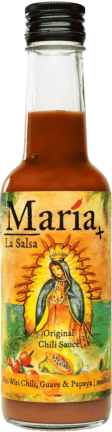 Wiri Wiri Chili, Guave & Papaya (medium) von María La Salsa