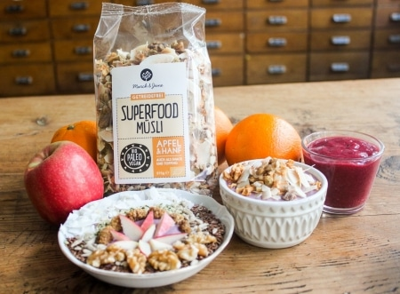 Bio Superfood Müsli Apfel & Hanf 375g