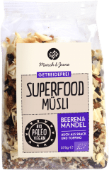 Bio Superfood Müsli Beeren & Mandel 375g von March & June