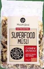 Bio Superfood Müsli Cashew & Kakao 375g von March & June