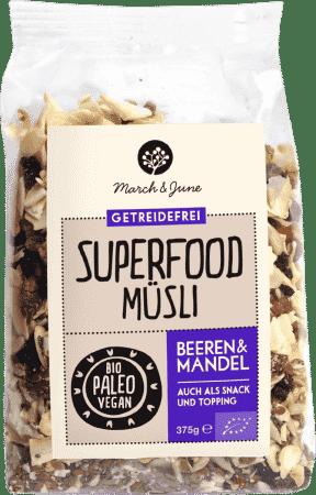 Bio Superfood Müsli glutenfrei Beeren & Mandel
