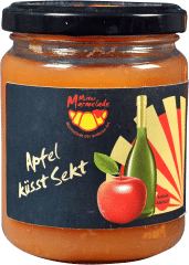 Apfel küsst Sekt