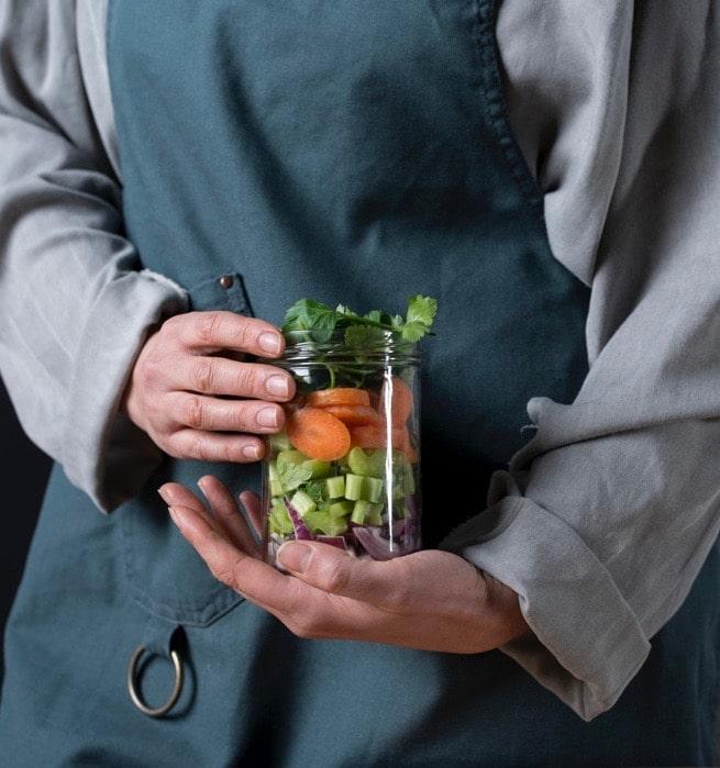 Gemüseglas mit Koch von ika ika