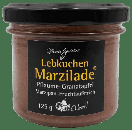 Marzilade Pflaume Granatapfel Lebkuchen