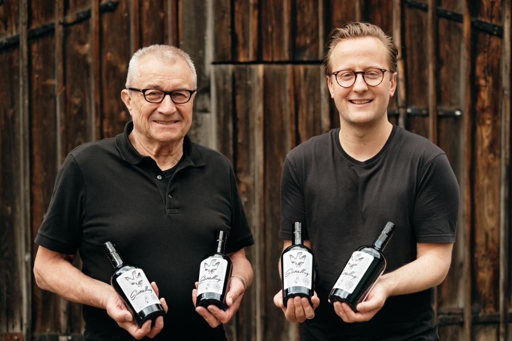 Josef Bauer und Marc Elsässer von Sturzflug Premium Dry Gin