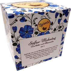 Süßer Mohntag - Zartbitter mit Blaumohn