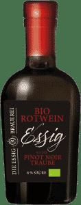 Bio Rotweinessig aus der Pinoit Noir Traube