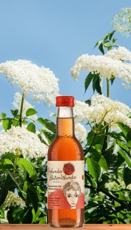 Holunderblüte & Rhabarber Premium Sirup