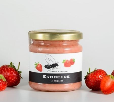Erdbeere im Honig von Grega's Imkerei