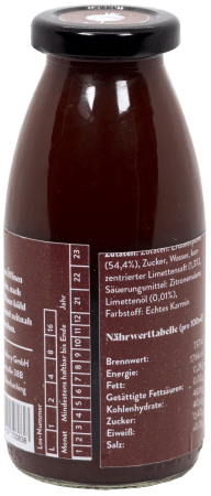 Fruchtsirup Erdbeere-Limette - 250ml