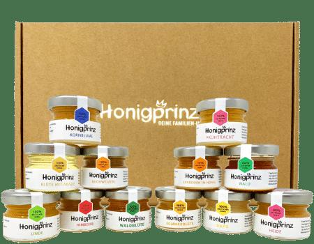 Honig Geschenkbox - 12 Sorten von Honigprinz