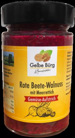 Rote Beete-Walnuss mit Meerrettich