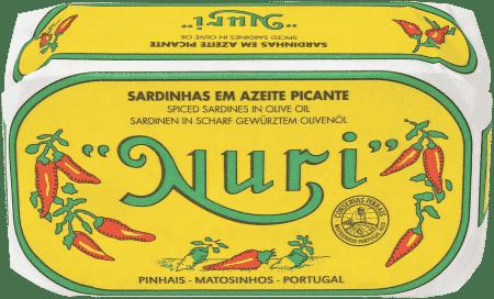 NURI Sardinen in pikantem Olivenöl