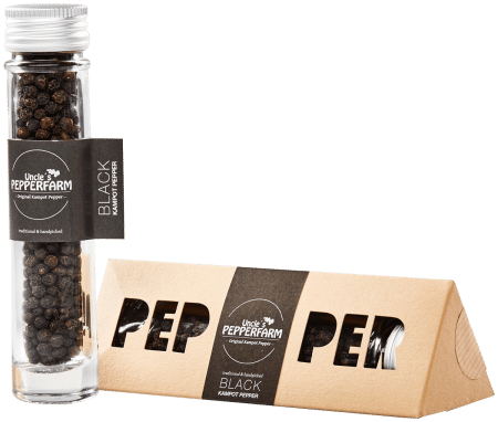 Schwarzer Kampot Pfeffer im Geschenkkarton