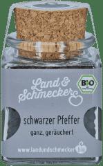 Bio schwarzer Malabar Pfeffer geräuchert