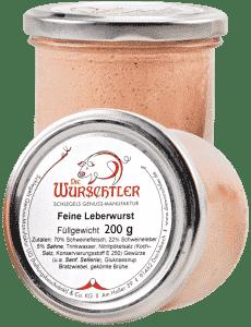 Feine Leberwurst mit Bratzwiebeln