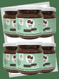 Haselherz Bio Choco Nuss Nougat Creme vegan - 6er Set