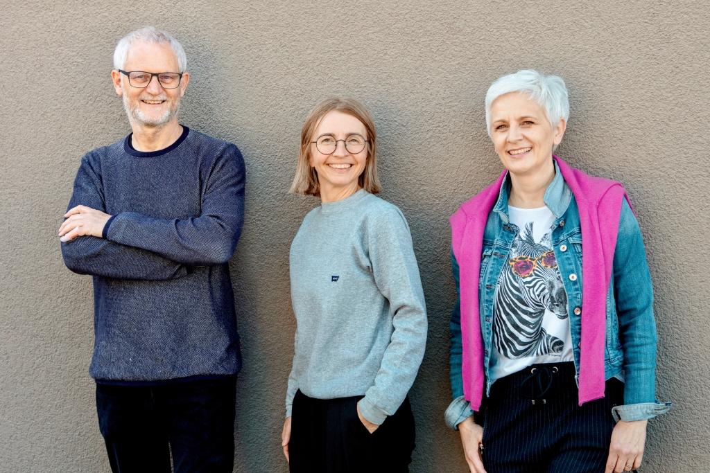 Bernd Rudek, Barbara Schmid und Sandra Strähler vom Team LieBLings