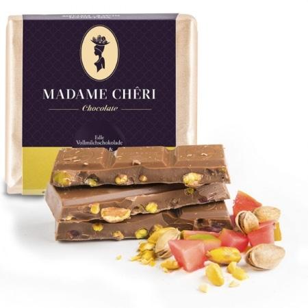 Vollmilch-Schokolade mit Guave & Pistazienkernen