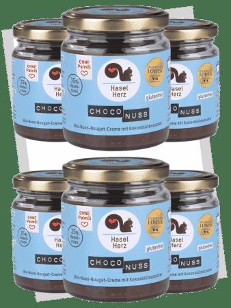 Haselherz Bio Choco Nuss Nougat Creme - 6er Set