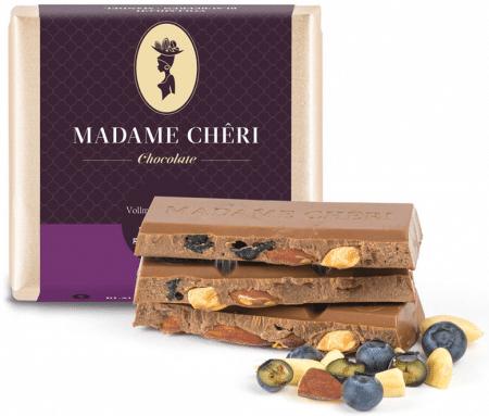 Vollmilch-Schokolade mit Blaubeeren & Mandeln