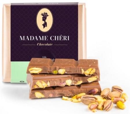Vollmilch-Schokolade mit Pistazien von Madame-Cheri