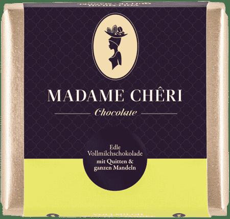 Vollmilch-Schokolade mit Quitte & Mandeln