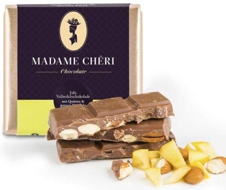 Vollmilch-Schokolade mit Quitte & Mandeln von Madame-Cheri