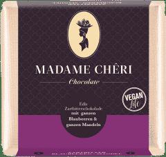 Zartbitter-Schokolade mit Blaubeeren & Mandeln