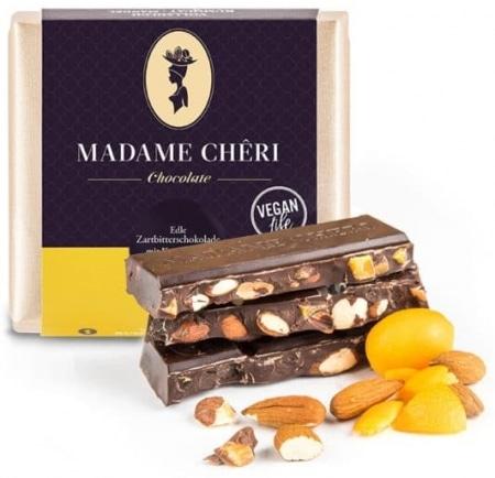 Zartbitter-Schokolade mit Kumquats & Mandeln von Madame-Cheri