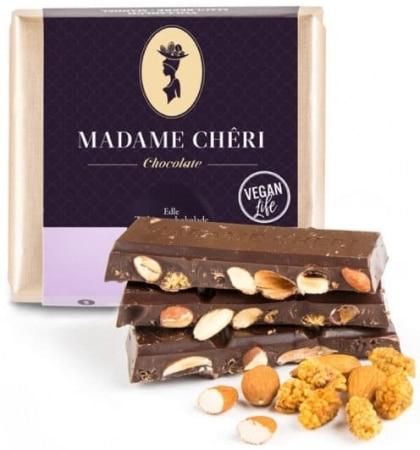 Zartbitter-Schokolade mit Maulbeeren & Mandeln von Madame-Cheri